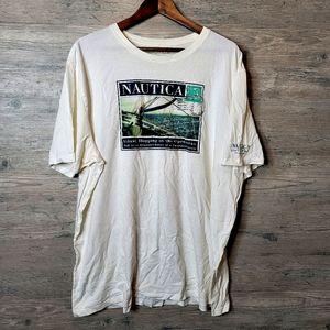 Nautica Sailing Graphic T Shirt. Perfect Condition